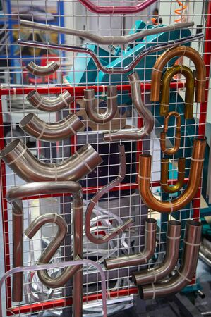 Pipe bent products from steel pipe, tube bending machine