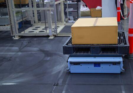 Rack Sorter, Modern automated storage and retrieval system for pallet Stok Fotoğraf - 128187057