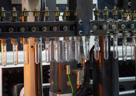 Raw material of PET plastic bottle on blowing machine pre-heat process