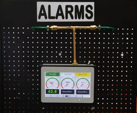 Oxygen monitor security alarming system for hospital Stok Fotoğraf