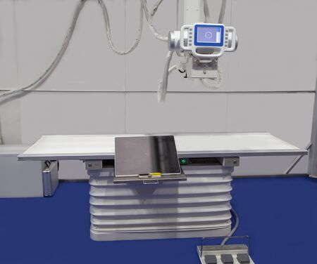 X-Ray room with modern medical equipment in hospital Stok Fotoğraf - 128187241