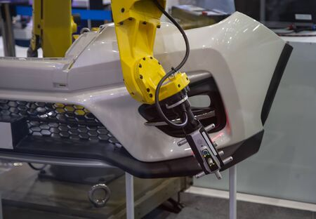 Automated robotic arm CMM scanning in automotive insustry Stok Fotoğraf