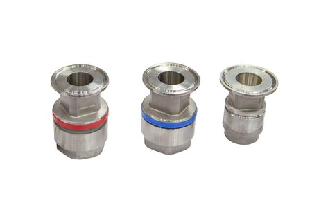Quick connect fitting coupling for compressed air, hydraulic, pneumatic, gases, fuel isolated on white background Stok Fotoğraf