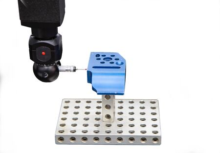 CNC Coordinate Measuring Robotic Machine isolated on white background