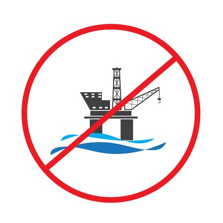 Offshore oil rig platform banned, prohibited and stopped
