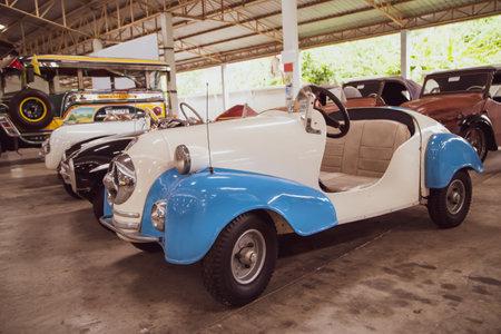 Nakhon Pathom, Thailand - August 3, 2019: Vintage car Gebr Ihle Bruchsal exhibit at vintage car collector garage in Nakhon Pathom province