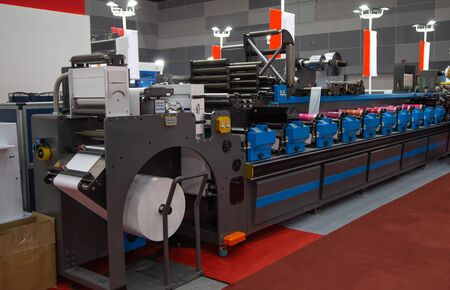 Flexographic printing machine for labels, tape, bags, boxes and banners
