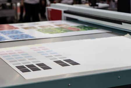 Color chart on digital printer offset for printing industry