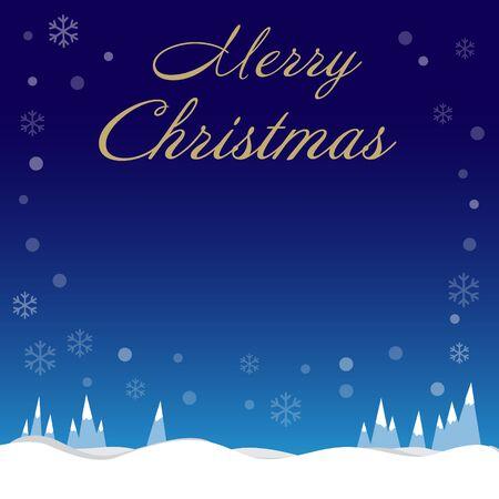 Borde de copos de nieve de vacaciones de Navidad sobre fondo azul con espacio de copia