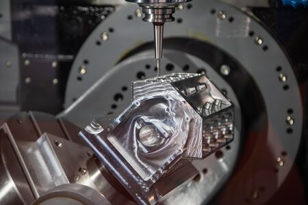 Modern industry CNC milling machine cutting sample workpiece