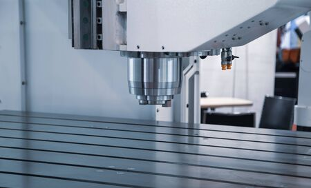 CNC milling machine in manufacturing industrial workshop
