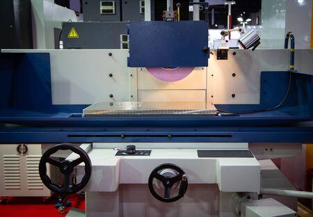 High precision horizontal CNC grinding machine in industrial workshop