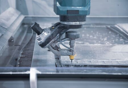 Modern industry CNC Abrasive water jet cutting machine Stockfoto