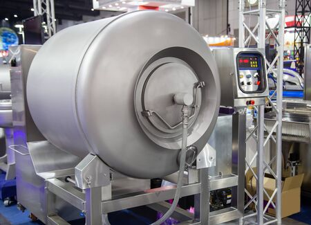 Vacuum meat tumbler massaging machine for food industry 版權商用圖片