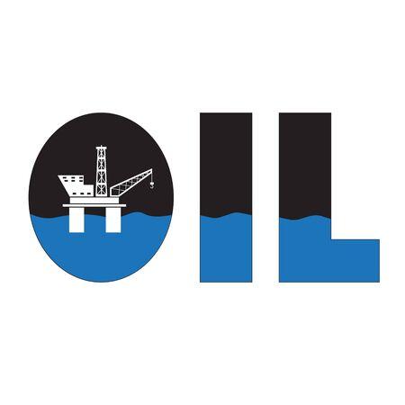 Oil Industry Offshore Platform Logo Vector Business