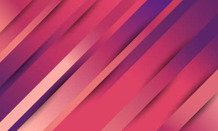 Abstract pink and purple diagonal stripes line gradient. Template and background for card or banner. Vector illustration design
