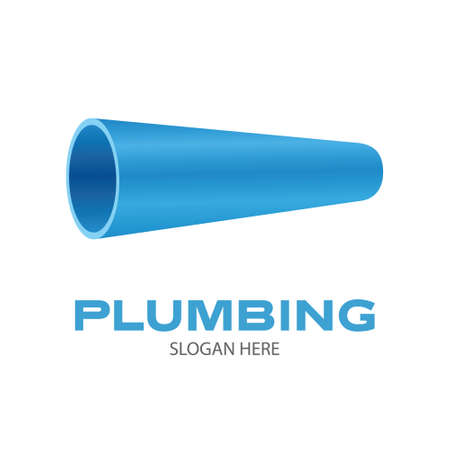 Plumbing company . Water pipe symbol on white background. Vector illustration design. Illusztráció