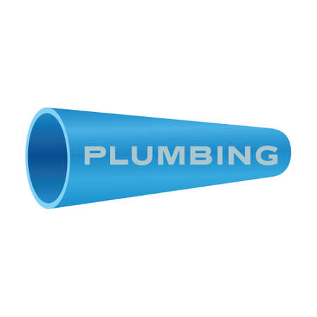 Plumbing company. Water pipe symbol on white background. Vector illustration design.