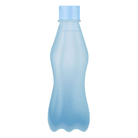 A plastic drinking water bottle on white background. Vector illustration design Illusztráció
