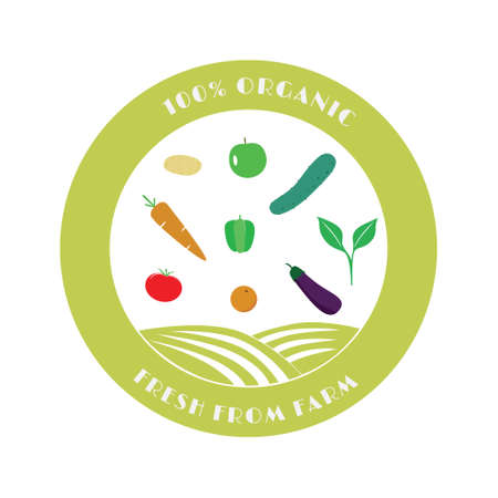 Organic farming business template  . Agriculture harvesting company symbol. Vector illustration branding design.
