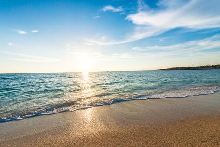 Sunrise, sea, seascape. Okinawa, Japan, and Asia.