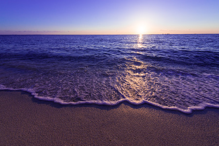 Sunset, sea, seascape. Okinawa, Japan, and Asia. 版權商用圖片