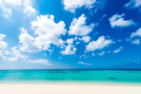 海、ビーチ、景。沖縄、日本、そしてアジア。 写真素材