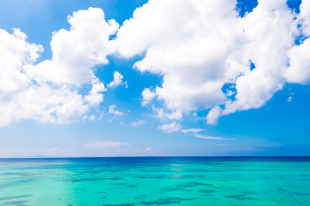 Sea, sky, seascape. Okinawa, Japan, and Asia.