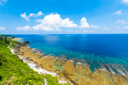Sea, coast, seascape. Okinawa, Japan, and Asia.