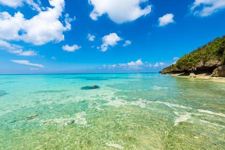 Sea, coast, seascape. Okinawa, Japan, and Asia. 版權商用圖片