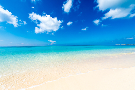 Sea, beach, seascape. Okinawa, Japan. Stock Photo