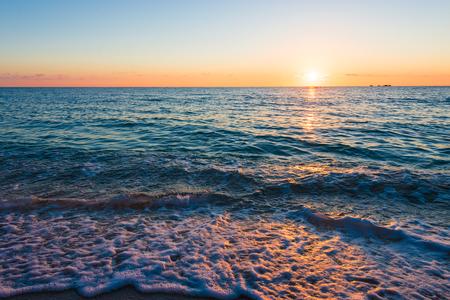 Sunset, sea, seascape. Okinawa, Japan.
