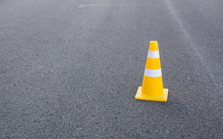 traffic cone: traffic cone with space for text