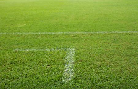 soccer field grass corner