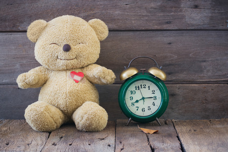 Teddy Bear with red heart, Ideal for Valentines Day, Time heals all, Valentine background