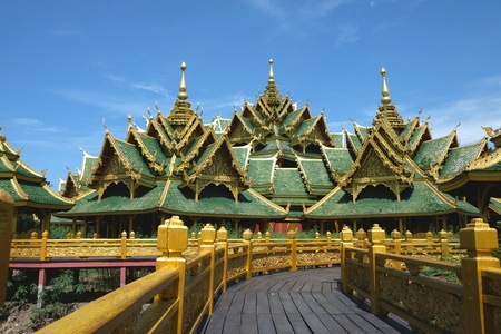 cultural history: the building is a cultural arts of thailand. Stock Photo