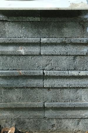 barely: Bricks waiting to be used. Stock Photo