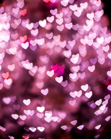 Heart bokeh background, Love Valentine day concept Фото со стока
