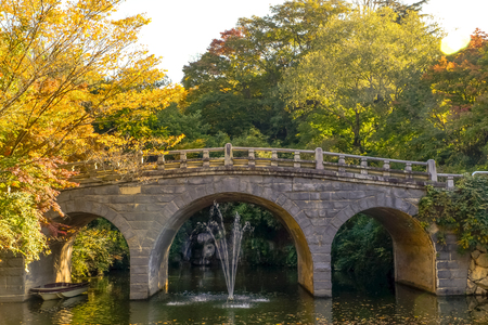 Haetalgyo bridge in autumn at Bulguksa Temple ,Gyeongju, South Korea