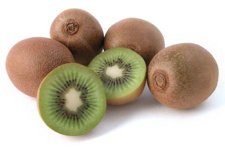 ready to eat: kiwi fruit study - fresh and ready to eat! Stock Photo