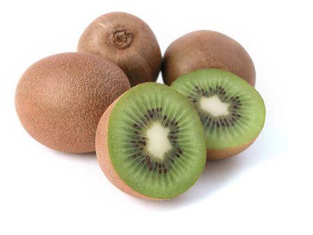 kiwi fruit study - fresh and ready to eat! Stock Photo