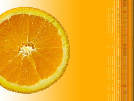fresh orange slice