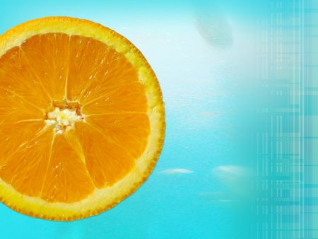 quench: fresh orange slice