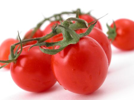 ready to eat: tomatoes against a white background - ready to eat!