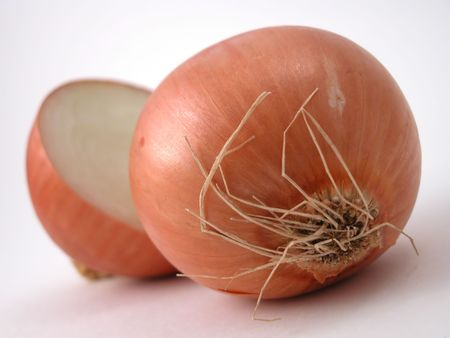 close up of brown onions Stock Photo - 740058