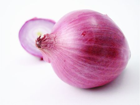 close up of some red onions