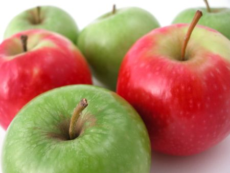 fresh crunchy apples ready to eat! Stock Photo
