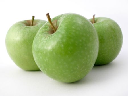 ready to eat: fresh crunchy green apples ready to eat!
