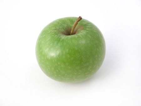 a fresh crunchy green apple ready to eat! photo