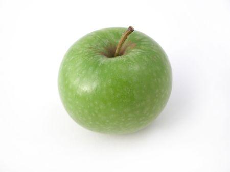 a fresh crunchy green apple ready to eat!